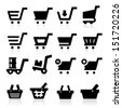 Shopping Cart Icons - stock