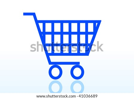 shopping cart or basket icon for online internet store isolated on white background - stock vector
