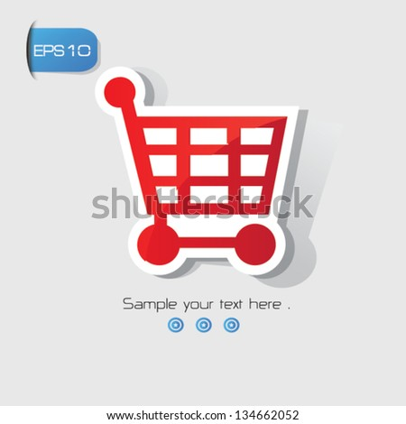 Shopping cart sign,vector - stock vector