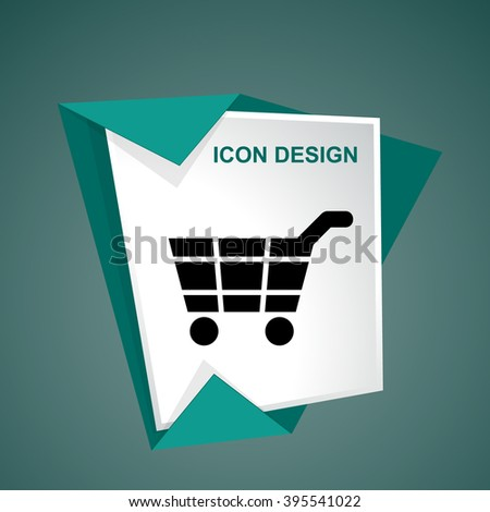 Shopping cart sketch icon for web and mobile - stock vector