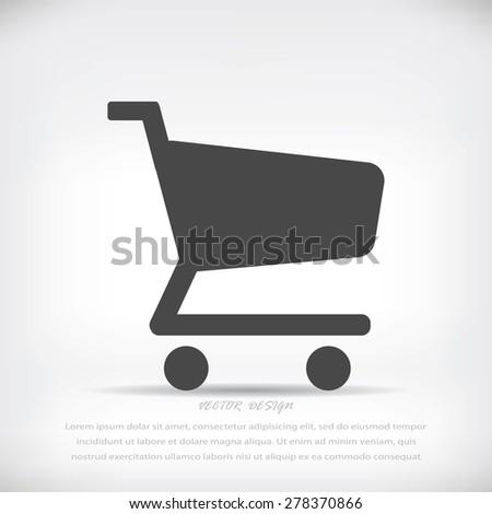 shopping cart vector icon - stock vector