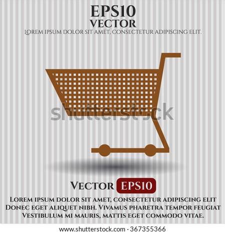 Shopping cart vector icon or symbol - stock vector