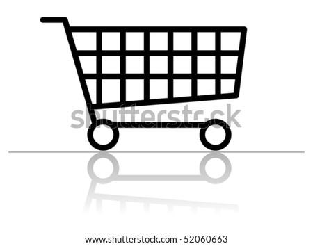 Shopping cart, vector illustration - stock vector