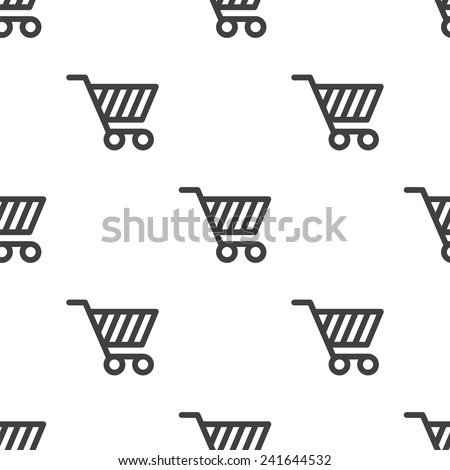 shopping cart, vector seamless pattern, Editable can be used for web page backgrounds, pattern fills   - stock vector