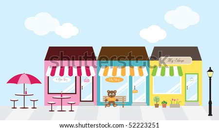Shopping Center - stock vector