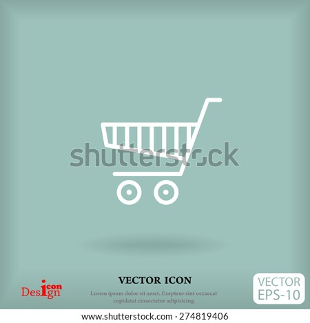shopping chart vector icon - stock vector