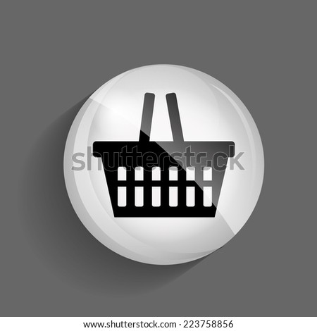 Shopping Glossy Icon Vector Illustration - stock vector