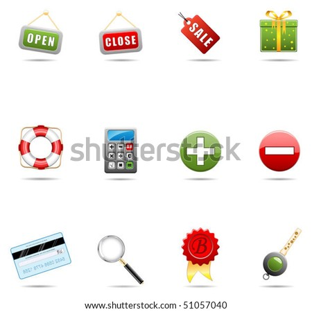 Shopping icon set#1 - stock vector