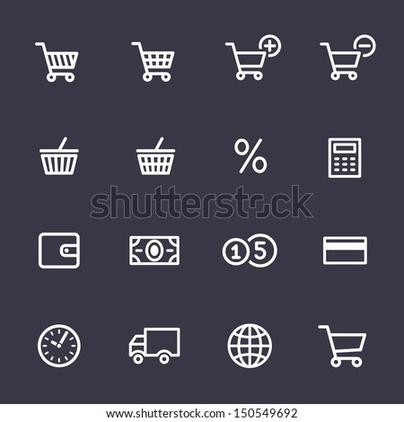 Shopping Icon Set. Icons for on-line shop - stock vector