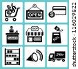 shopping icon set, marketing icon set, e commerce icon set - stock vector