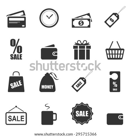 Shopping Icon, Vector EPS10. - stock vector