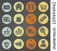 Shopping icons  in vintage style. Eps10 vector. - stock vector