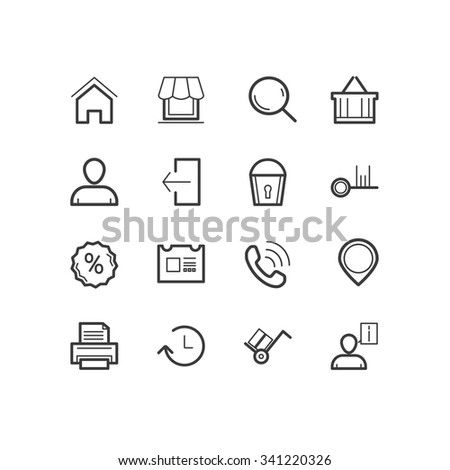 Shopping icons. Shopping and commerce icons. design icons. - stock vector