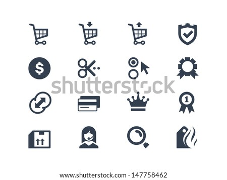 Shopping icons vector - stock vector