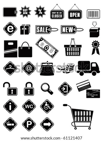 Shopping icons. Vector - stock vector