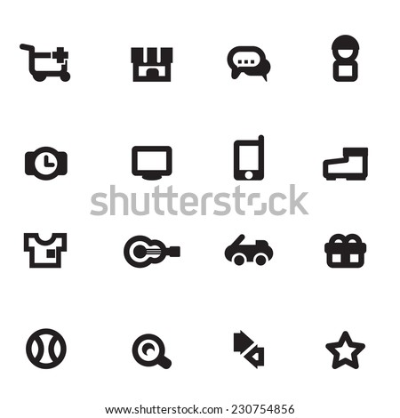 Shopping Icons Vector files.