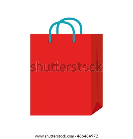 Shopping isolated flat icon in black and white icon, vector illustration.