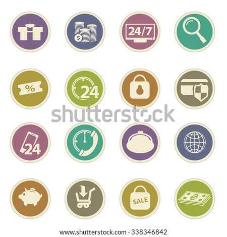 shopping, marketing and e-commerce icons set