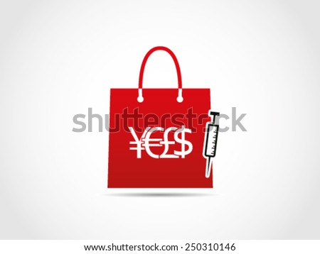 Shopping Medical Stuff - stock vector