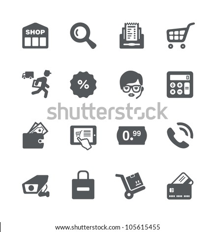 Shopping minimalistic simple icons