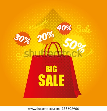 Shopping offers and sales graphic design, vector illustration