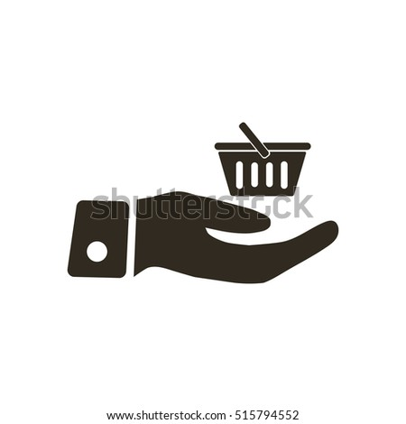 Shopping on hand icon vector illustration