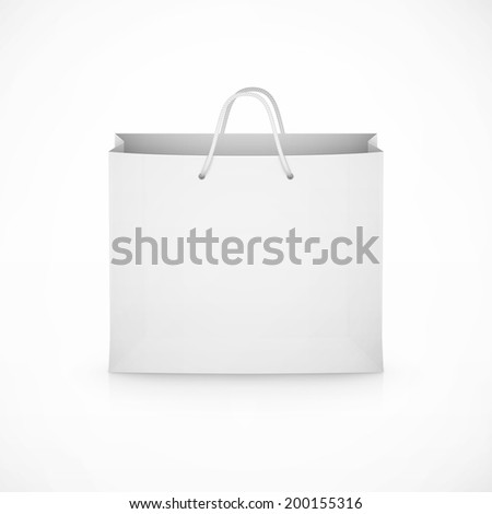 shopping paper bag on white background eps10 vector illustration - stock vector