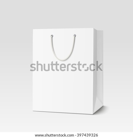 Shopping paper bag. Vector illustration EPS 10