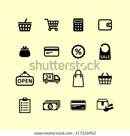 Shopping pictogram
