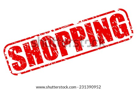 Shopping red stamp text on white - stock vector