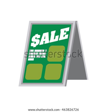 shopping sale banner store market shop commerce icon. Isolated and flat illustration. Vector graphic