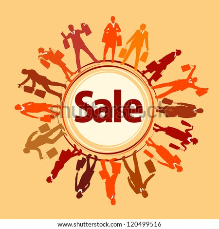 shopping sale poster - stock vector