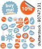 shopping sales stickers, icons, signs, vector illustrations - stock vector
