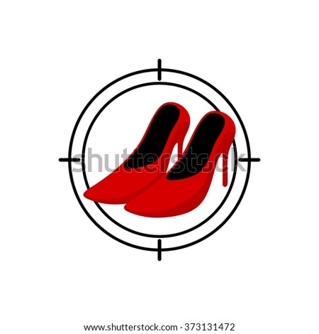 Shopping Shoes Beauty Woman Logo Template - stock vector