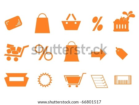 shopping simple icons - stock vector