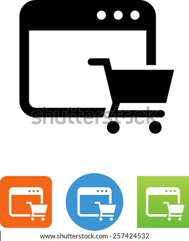 Shopping site symbol for download. Vector icons for video, mobile apps, Web sites and print projects.  - stock vector