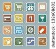 Shopping sticker icons set. Illustration eps 10 - stock photo