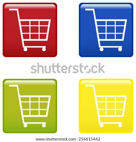 shopping trolley supermarket vector illustration - stock vector