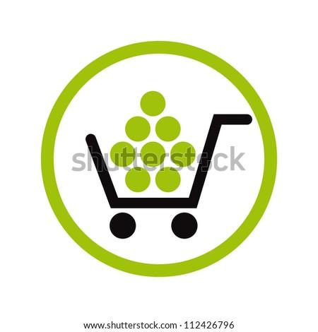 Shopping vector icon. - stock vector