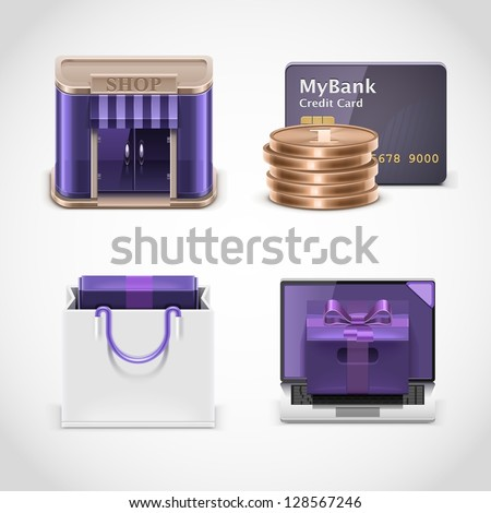 shopping vector icons xxl - stock vector