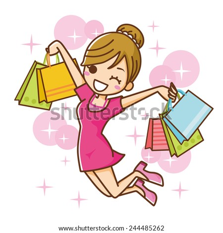 Shopping Woman - stock vector