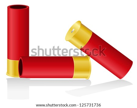shotgun shells vector illustration isolated on white background - stock vector