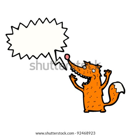 shouting fox cartoon