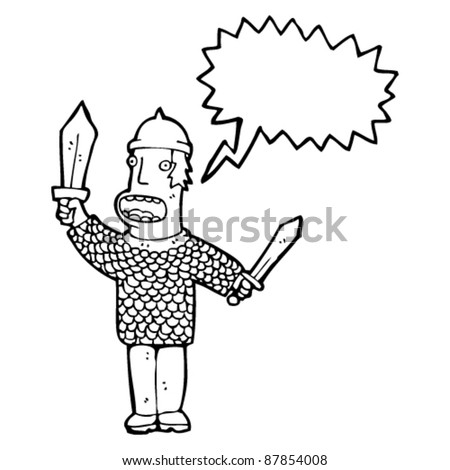shouting medieval soldier cartoon