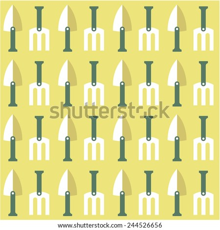 shovel garden seamless  background - stock vector
