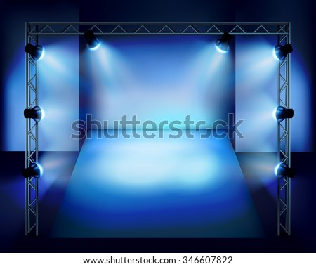 Show in the stage. Vector illustration.  - stock vector
