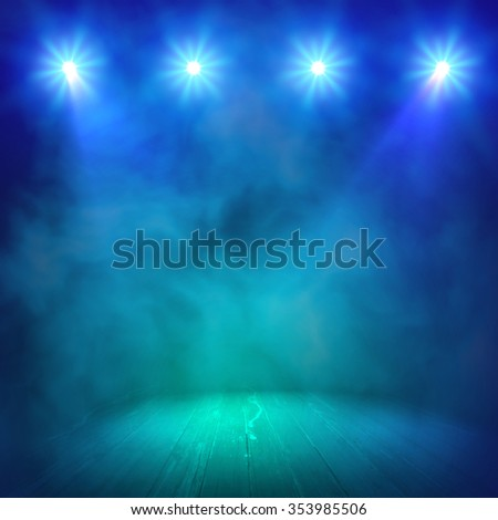 smoky night club background show vector interior shined projector stock vector