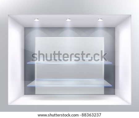 Show-window of shop. Vector illustration. - stock vector
