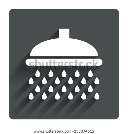 Shower Icon Vector Shower Sign Icon