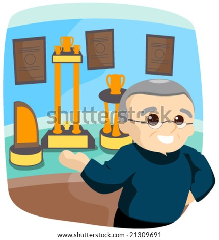 Showing Achievements - Vector